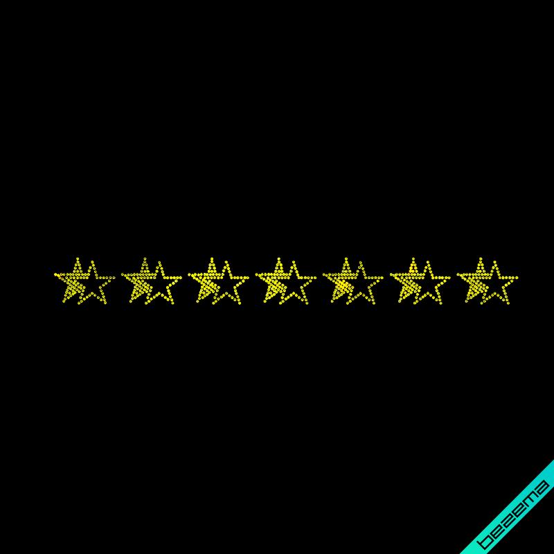 Термопереводки на пончо Орнамент звезды (Стекло,2мм-желт.)