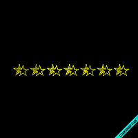 Термопереводки на пончо Орнамент звезды (Стекло,2мм-желт.), фото 1