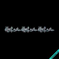 Термонаклейки зі страз на сарафани Орнамент (Скло,2мм-бенз.)