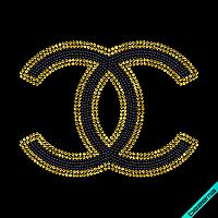 Термотрансферы на варежки и перчатки Chanel (Стекло,2мм-св.синий,3мм-аквамар.)