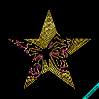 Термотрансферы на брюки Бабочка (Стекло,2мм-зол.,3мм-роз.)
