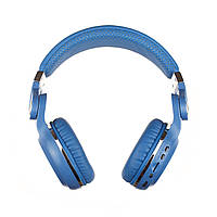 Беспроводные Bluetooth наушники Bluedio T2 Plus со встроенным радио (Синий), фото 1