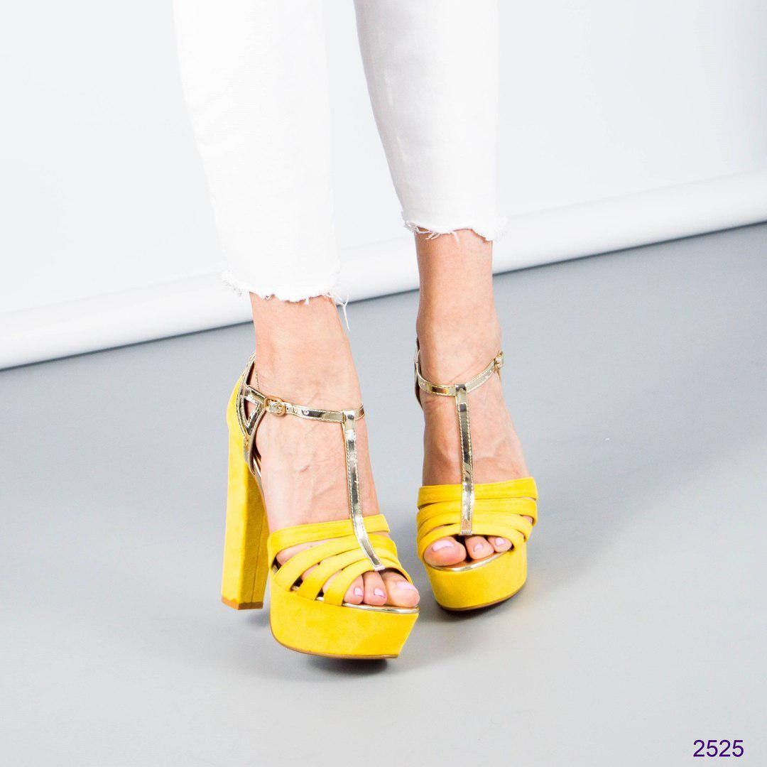 Босоножки женские желтые