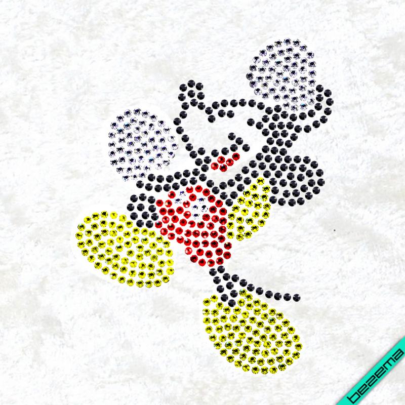 Рисунки на тканину Міккі (Скло, ss6-білий,ss6-чорний,ss6-червоний,ss6-жовтий)