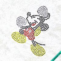Рисунки на ткань Микки (Стекло, ss6-белый,ss6-черный,ss6-красный,ss6-желтый)