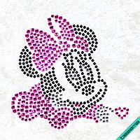 Рисунки на тканину Мінні (Скло, ss6-черн,ss6-крістал,ss6-рожевий,ss10-рожевий)