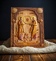"""Икона деревянная """"Святых апостолов Петра и Павла"""" 20 х 25 см"""