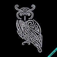 Рисунки на ткань Сова (Стекло, ss6-кристалл)