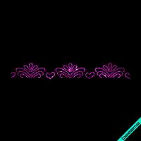 Термонаклейки на колготки Орнамент (Стекло,2мм-фукс.)