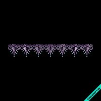 Термонаклейки из страз на сандалии Орнамент (Стекло,2мм-фиол.,3мм-аквамар.)