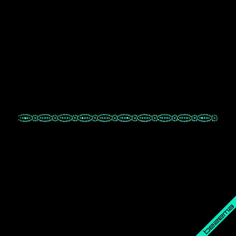 Декор из страз на сандалии Орнамент (Стекло,2мм-ярк.гол.,3мм-изумр.)