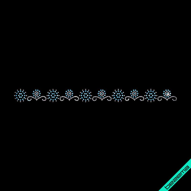 Термоаппликации на нижнее белье Орнамент (Стекло,2мм-бел.,3мм-аквамар.)