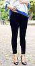 """Лосины для беременных """"Фитнес лайт"""" (под живот) р. 44-50 ТМ NowaTy Черный с синевой 16020204"""