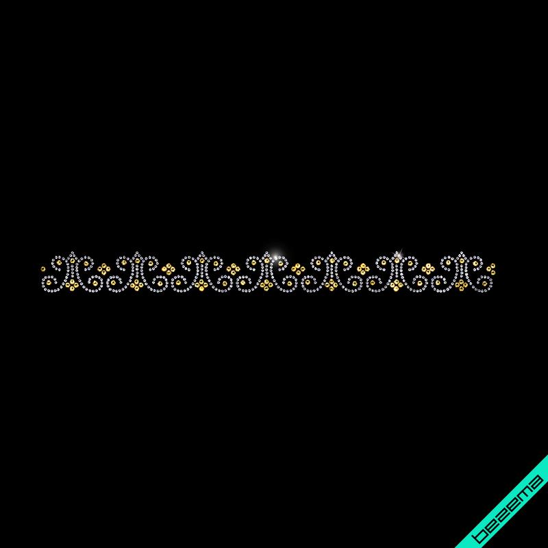 Декор на слипоны,сникерсы Орнамент (Стекло,2мм-сер.,4мм-дымч.зол.)