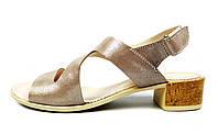 Женские кожаные босоножки LEONY на устойчивом каблуке , фото 1
