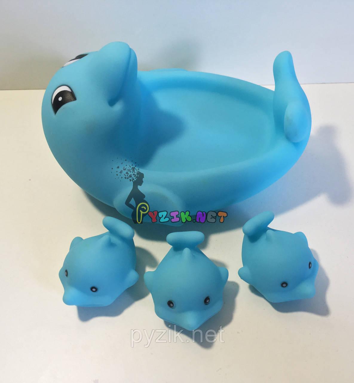 """Набор игрушек в ванночку 4 шт """"Дельфинчики"""""""