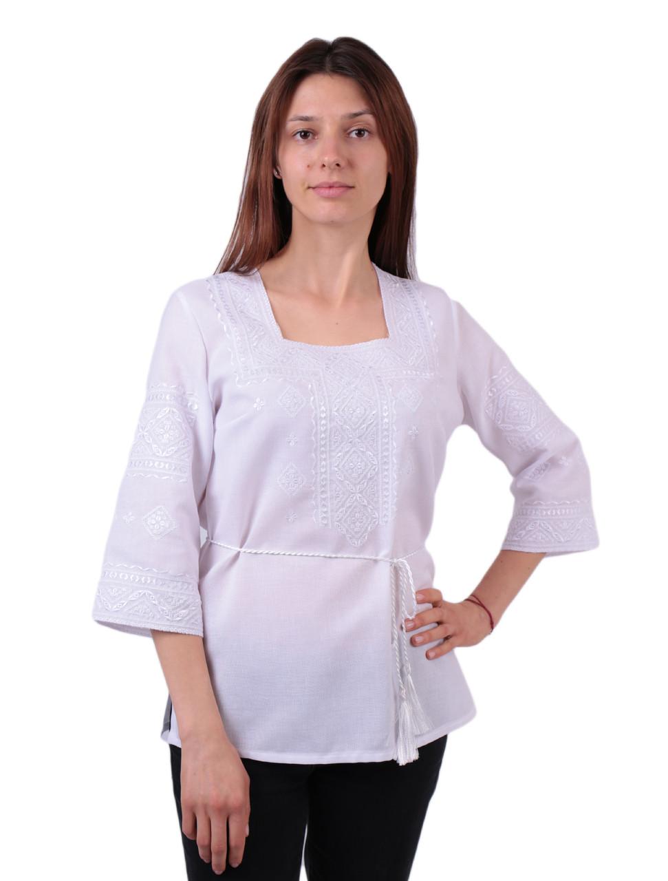 Жіноча вишиванка з білою вишивкою недорого  продажа c4ec74afc31a4