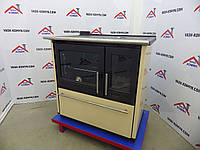 Отопительно-варочная печь Plamen 850 Glas кремовая, фото 1