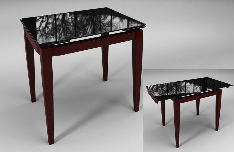 Стол обеденный Тореро Черный+Коричневый (Sentenzo TM)