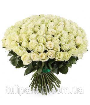 """Поздравительный букет """"Белая роза"""""""