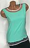 Блуза без рукава цвета мята,Бл-4462, фото 4