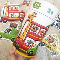 Пазлы развивающие Puzzlika Машинки, игрушки для малышей, пазлы развивающие