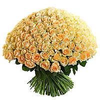 """Поздравительный букет """"Бежевая роза"""""""