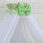 """Детская постель ТМ """"Asik"""" (8 ед.) """"Мишка с цветочком"""" салатового цвета №172., фото 2"""