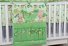 """Детская постель ТМ """"Asik"""" (8 ед.) """"Мишка с цветочком"""" салатового цвета №172., фото 3"""