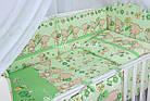"""Детская постель ТМ """"Asik"""" (8 ед.) """"Мишка с цветочком"""" салатового цвета №172., фото 6"""
