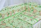 """Детская постель ТМ """"Asik"""" (8 ед.) """"Мишка с цветочком"""" салатового цвета №172., фото 5"""