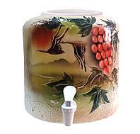 Диспенсер керамический для воды Шамот Птицы