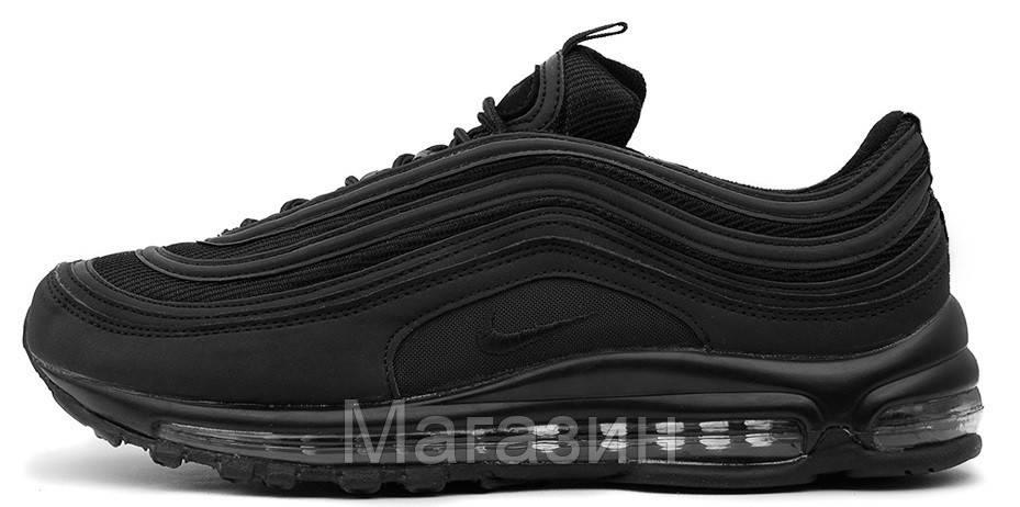 Мужские Кроссовки Nike Air Max 97 Black (в Стиле Найк Аир Макс 97) Черные —  в Категории