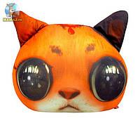 """Антистрессовая игрушка """"SOFT TOYS """"Кіт глазастий"""" рыжий"""