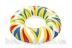 Круг надувной для плавания 107 см с ручками, фото 2