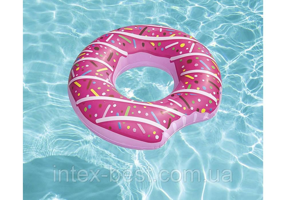 Bestway 36118-pink, надувной круг Розовый Пончик, 107 см