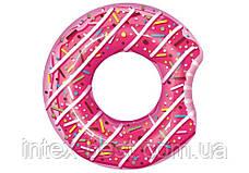 Bestway 36118-pink, надувной круг Розовый Пончик, 107 см, фото 2