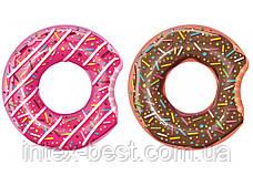 Bestway 36118-pink, надувной круг Розовый Пончик, 107 см, фото 3