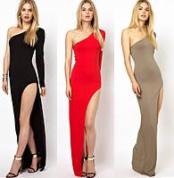 """Платье """"Мелиса - 2"""" длинное с разрезом"""