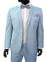 Классический мужской костюм голубой № 94/8 L -129 - 444652 гол.