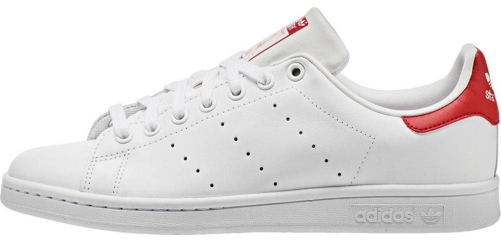 """Жіночі кросівки adidas Stan Smith """"Red/White"""" (Адідас Стен Сміт) білі"""