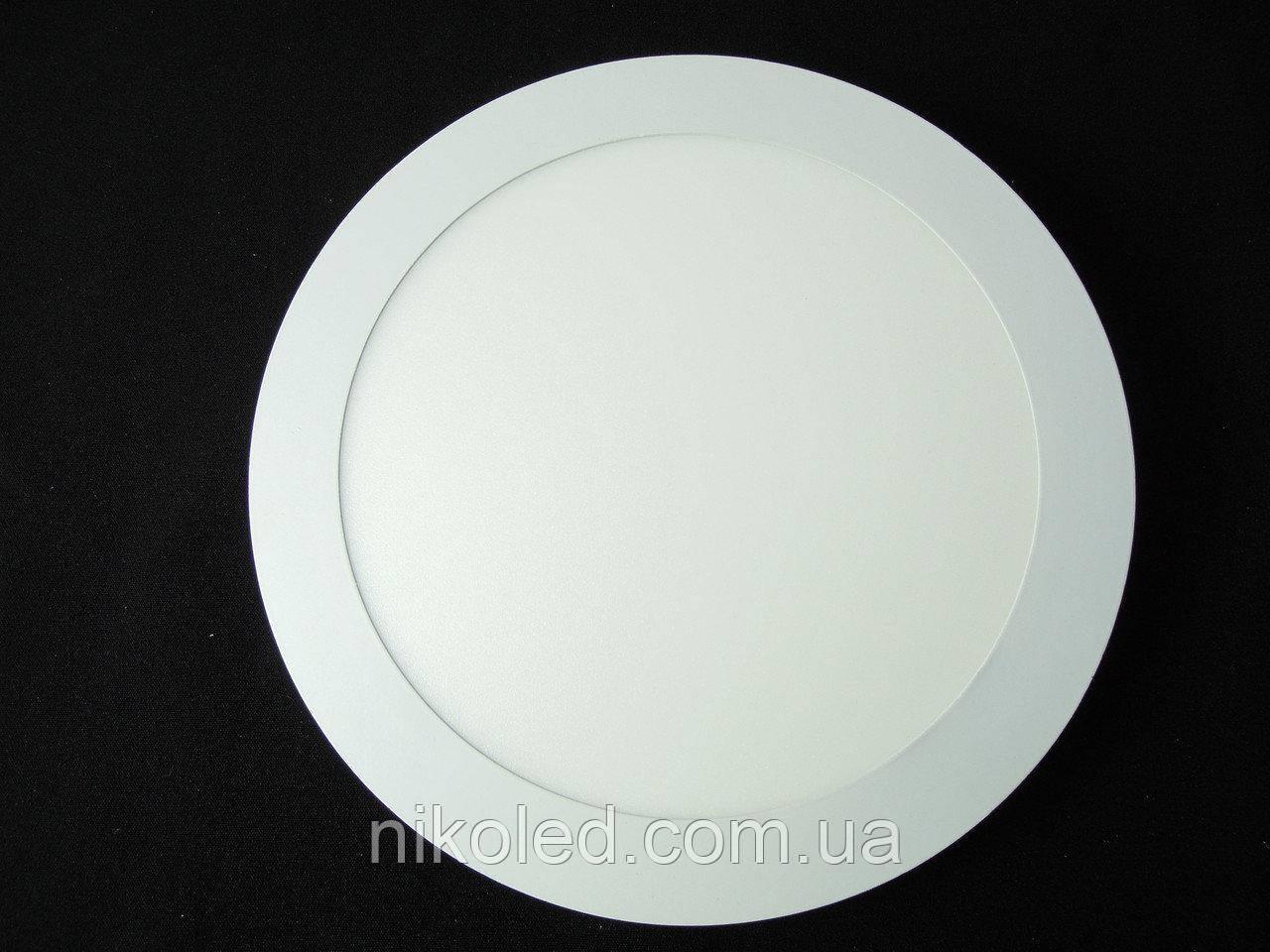 Светильник точечный Slim LED 18W круг Теплый белый
