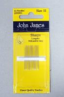 Иглы для шитья №11 Sharps Needles
