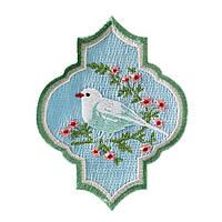 Аппликация Tilda Птица на голубом