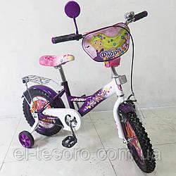 "Велосипед TILLY детский 14"" Флора (purple + white)"