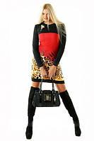 Платье молодежное, плате+болеро, платье красное, платье нарядное, платье теплое, фото 1