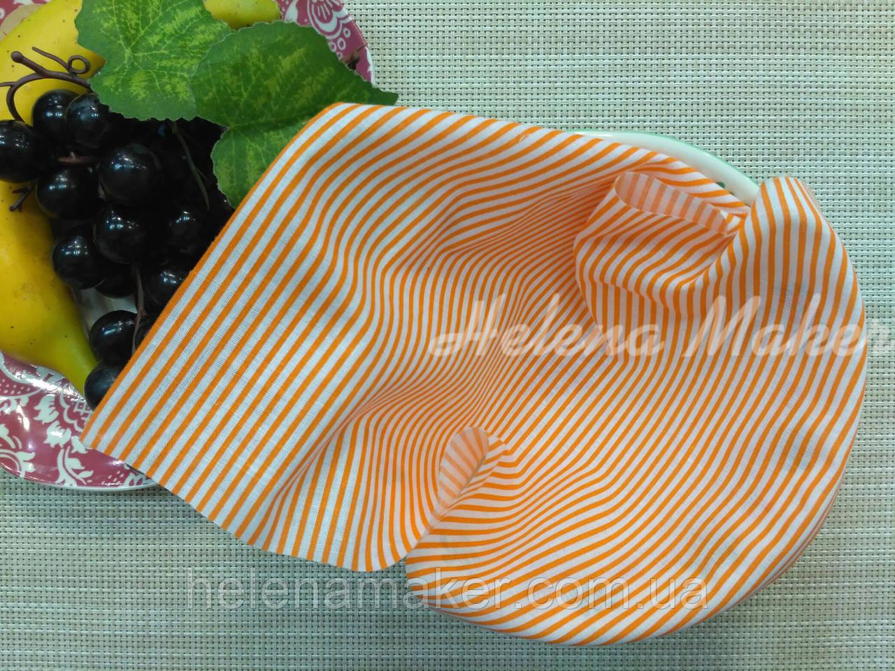 Хлопок для рукоделия Оранжевая полоска   20*25 см