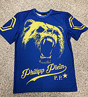 Футболка стильная Philipp Plein bear logo   Бирка