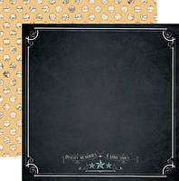 Бумага для скрапбукинга Teresa Collins - Chalkboard, 30х30, MB1002
