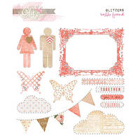 Прозрачные наклейки со стразами Glitz Design - Hello Friend - Glitzers Stickers , GL3535